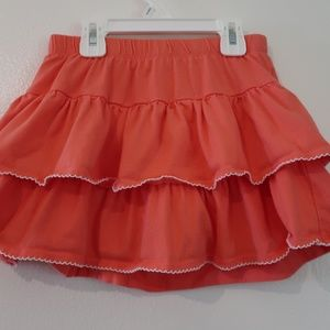 Coral Two-tiered Gymboree Skirt with Shorts